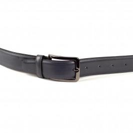 ceinture cuire lisse gris moyen_BOUCLE-1