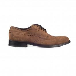 chaussure business derby en cuir brun_PROFIL-1