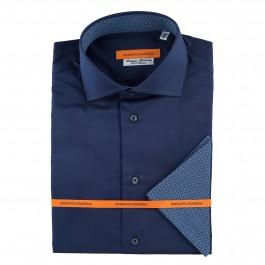chemise casual marine slim col italien_FACE