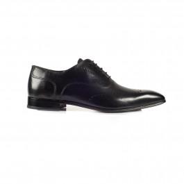 chaussure business derby en cuir noir_PROFIL-1