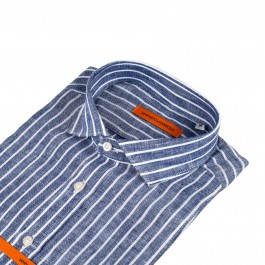 chemise casual marine slim col italien_COL-1