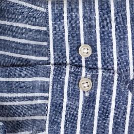 chemise casual marine slim col italien_MANCHE-1