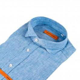 chemise casual bleu ciel slim col italien_COL-1