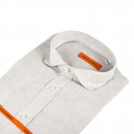 chemise casual beige slim col italien_COL-1
