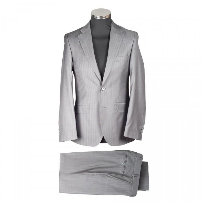 quality design 4cb0d c9eda Business Anzug Slim Grau 2 Knöpfe