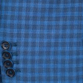 Veston business cobalt slim 2 boutons_MANCHE-1