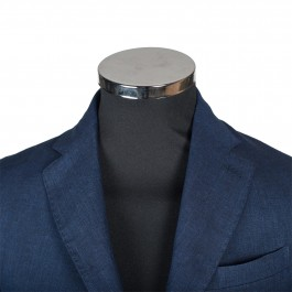 Veston Business Marine Slim 2 boutons 100% lin_COL-1