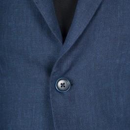 Veston Business Marine Slim 2 boutons 100% lin_BOUTONIERE-1