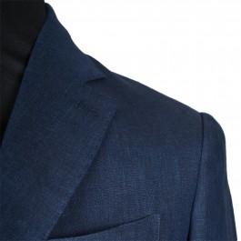 Veston Business Marine Slim 2 boutons 100% lin_COL-DETAIL-1