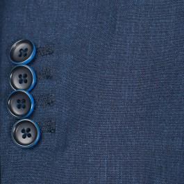 Veston Business Marine Slim 2 boutons 100% lin_MANCHE-1