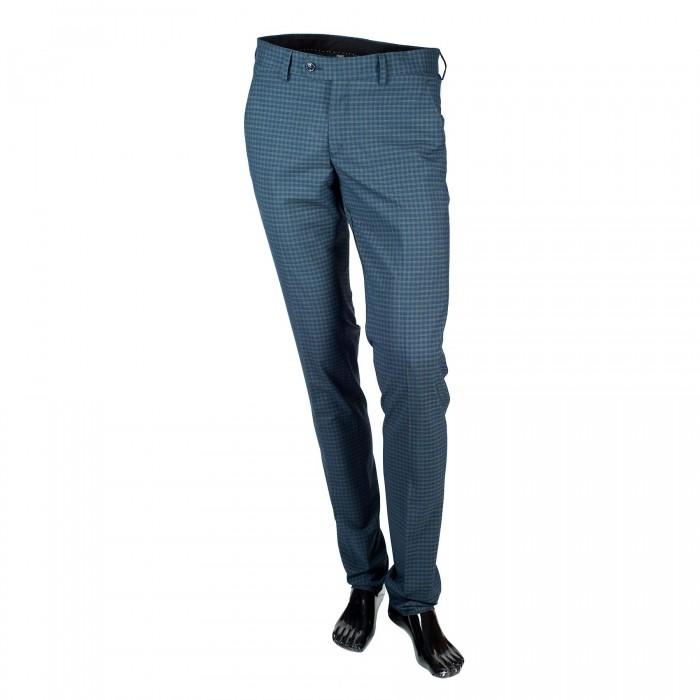 Pantalon laine slim marine_FRONT-1