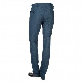 Pantalon laine slim marine_BACK-1