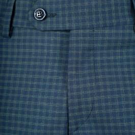 Pantalon laine slim marine_BOUTON-1