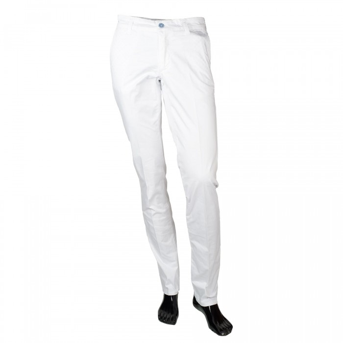 Pantalon Casual Blanc Slim_FACE01-1