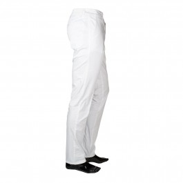 Pantalon Casual Blanc Slim_SIDE-1