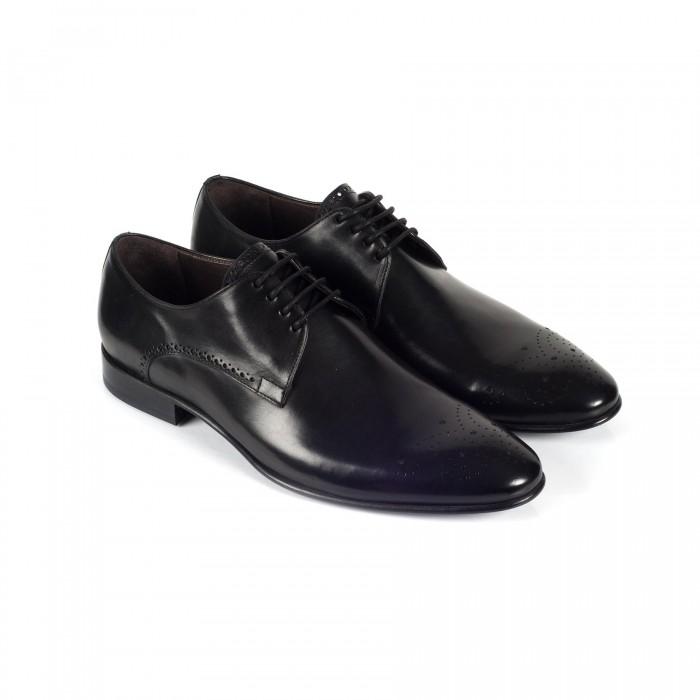 new product c662d e3e12 Business-Schuhe Derby Schwarz Leder