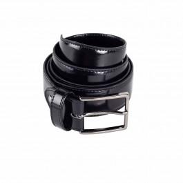 Ceintrure cuir lisse noir_roll-1