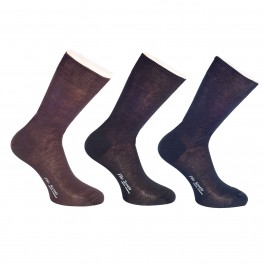 CHAUSSETTES COURTE FIL D'ECOSSE ASSORTIES_3col-Side