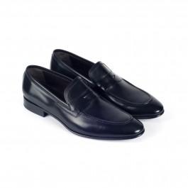 chaussure business Mocassin en cuir noir_3-4-1