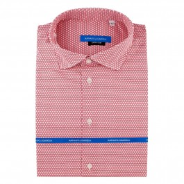 chemise casual rouge extra slim col italien_Full
