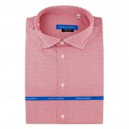 chemise casual rouge extra slim col italien_Full