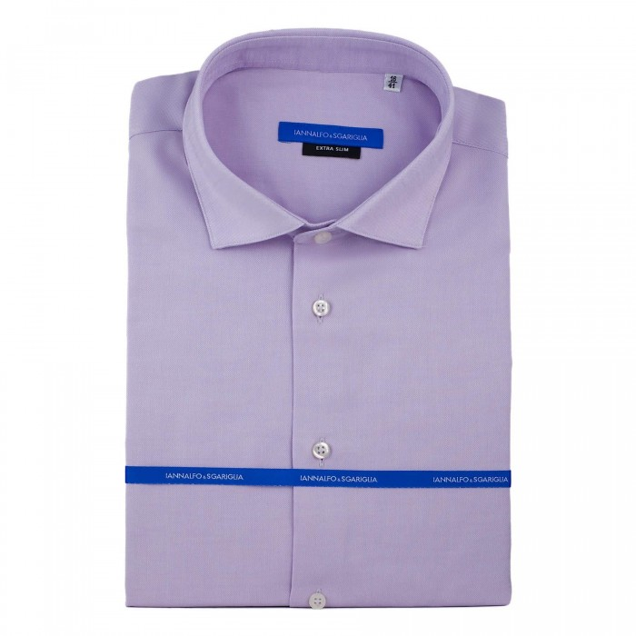 Chemise business lila extra slim col italien_Full