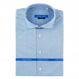 chemise casual bleu ciel extra slim col italien_Full