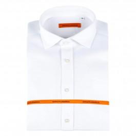 Chemise casual blanche slim col italien_Full