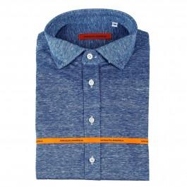 chemise casual marine slim col italien_Full