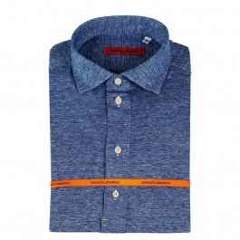 Polo Casual marine slim col italien_Full