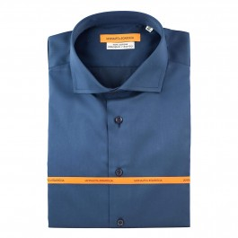 chemise business marine slim col italien full