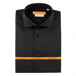 chemise business noir slim col italien full