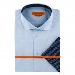 chemise Iannalfo&Sgariglia casual bleu ciel slim col italien full