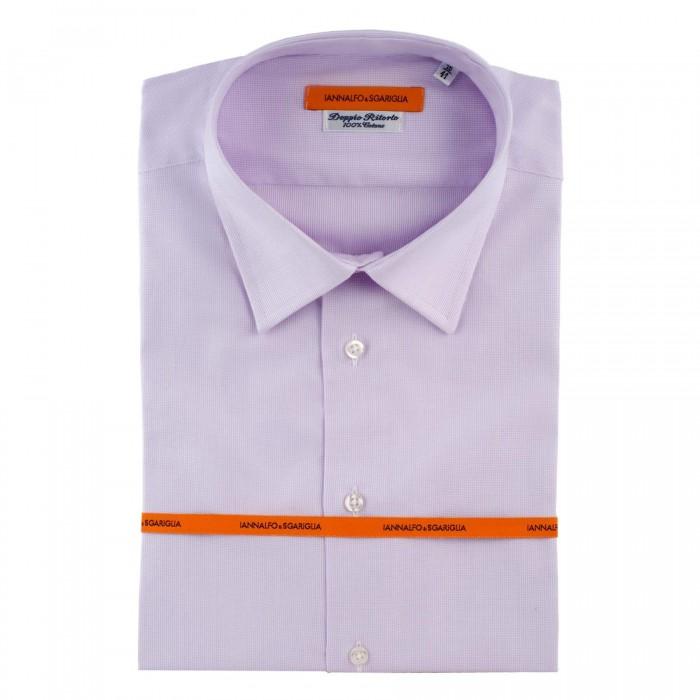 chemise Iannalfo&Sgariglia business lila slim col classique full