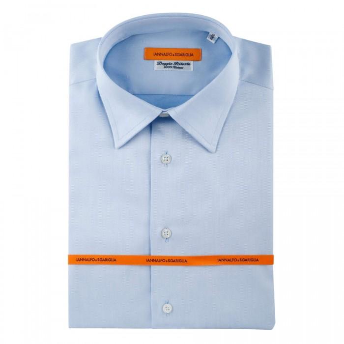 chemise Iannalfo&Sgariglia business bleu ciel slim col classique