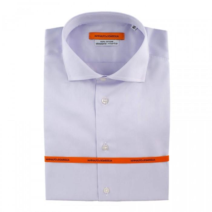 chemise Iannalfo&Sgariglia business lila slim col italien