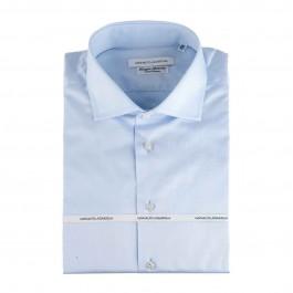 Chemise Iannalfo&Sgariglia business bleu ciel regular col italien face