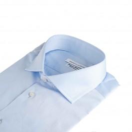 Chemise business Iannalfo&Sgariglia bleu ciel regular col italien Col