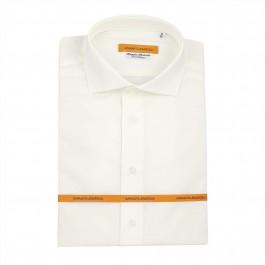 chemise business Iannalfo&Sgariglia blanc cassé slim col italien