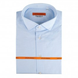 chemise business Iannalfo&Sgariglia bleu ciel slim col italien
