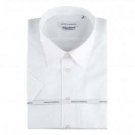 CHEMISE casual Iannalfo&Sgariglia PUR COTON blanc M/COURTE col classique