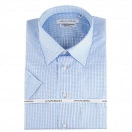Chemise casual innalfo&Sgariglia regular bleu claire col classique manche courte
