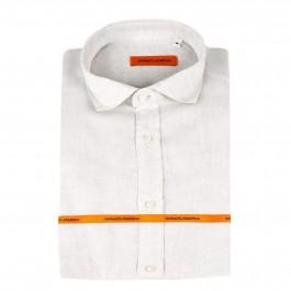 chemise casual Iannalfo&Sgariglia beige slim col italien