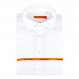 chemise casual Iannalfo&Sgariglia blanche slim col italien