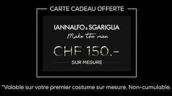 150 CHF offert sur votre premier costume