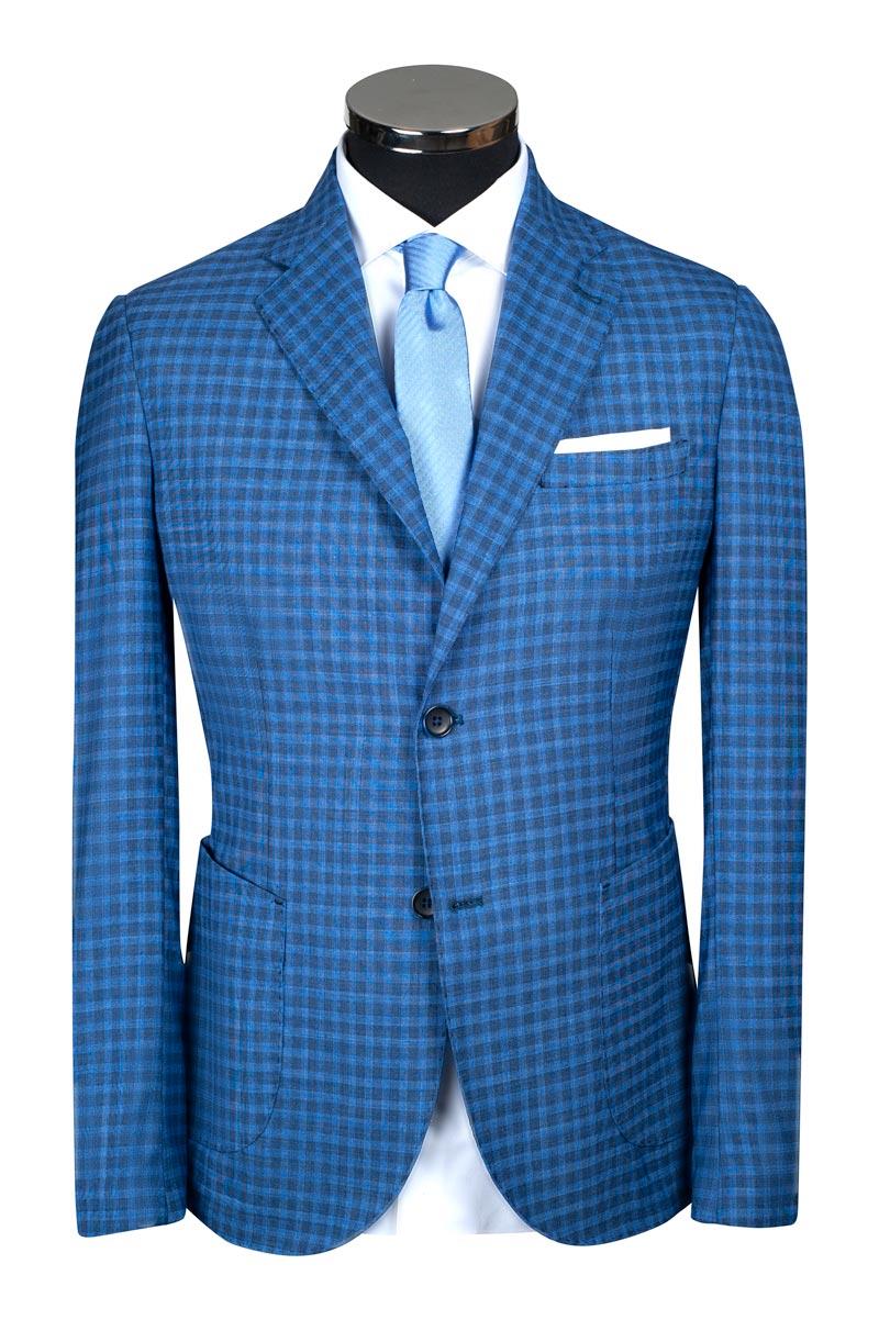 costume carreaux bleu