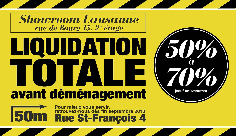 Liquidation totale avant déménagement rue st-François 4